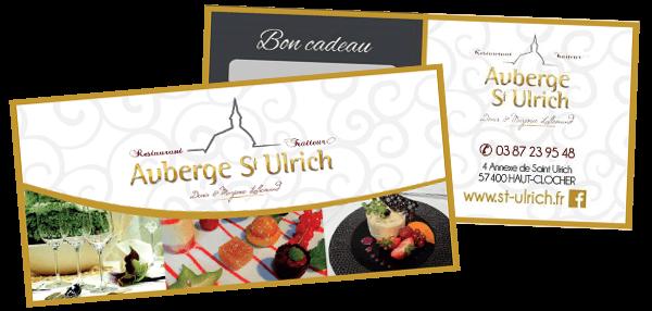 Bon cadeau Restaurant St Ulrich